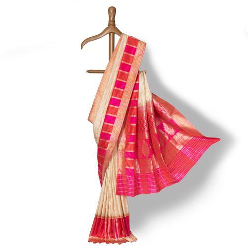 Brahmi Rangkat Banarasi Handwoven Silk Saree