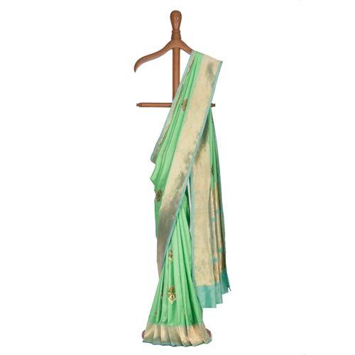 Naag Phool Mint Silk Saree