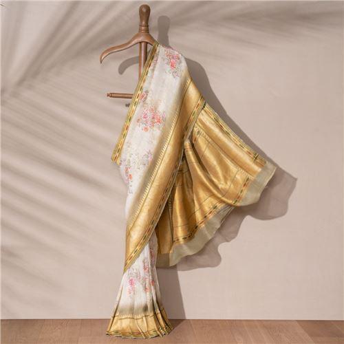 Phulwari Banarasi Handwoven Linen Chiffon Saree
