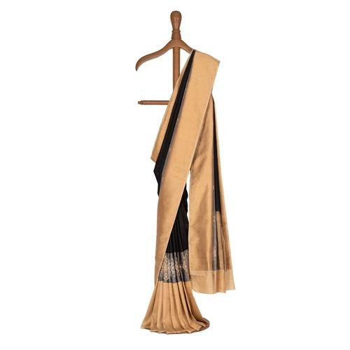 Rusnata Gyasar Black Silk Saree