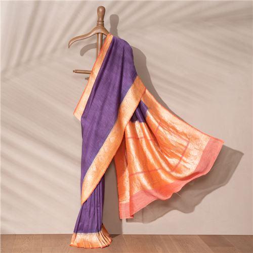 Mehar Banarasi Handwoven Linen Chiffon Saree