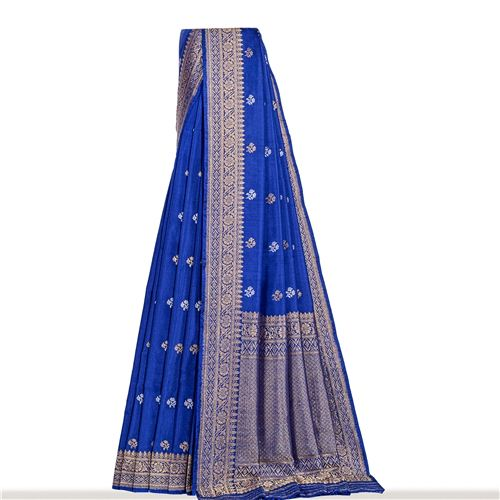Chunri Buti Ektara Gethua Classic Blue Silk Saree