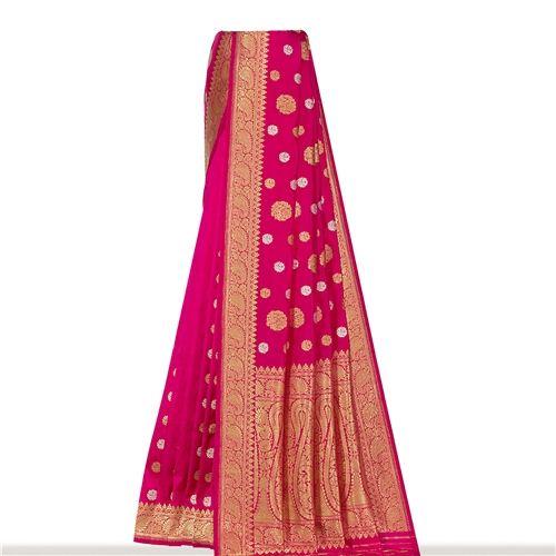 Guldavari Ektara Gethua Indian Pink Silk Saree