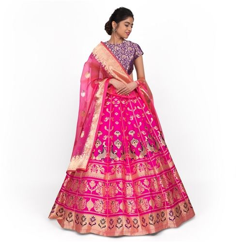 Jal Pari Lehenga Indian Pink