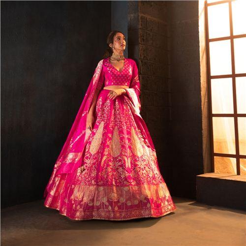 Morni Lehenga Indian Pink