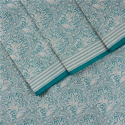 Gyasar Brocade Emerald Green Silk Fabric