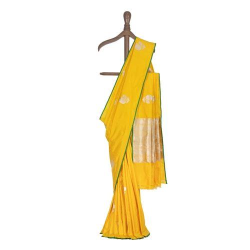Guldavari Buta Yellow Silk Saree