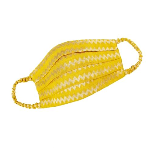 Pleated Handwoven Mulberry Cotton Banarasi Mask