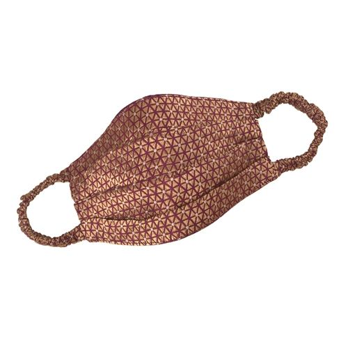 Pleated Handwoven Mulberry Silk Banarasi Mask
