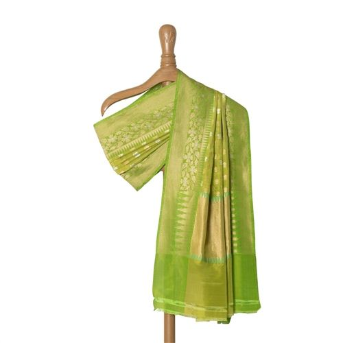 Temple Lime Silk Dupatta
