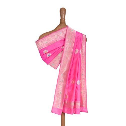 Jhinti Pink Silk Dupatta