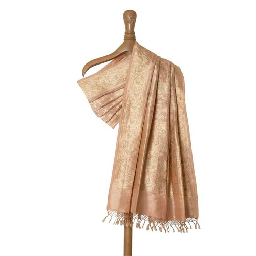 Khinkhwab Light Pink Silk Dupatta