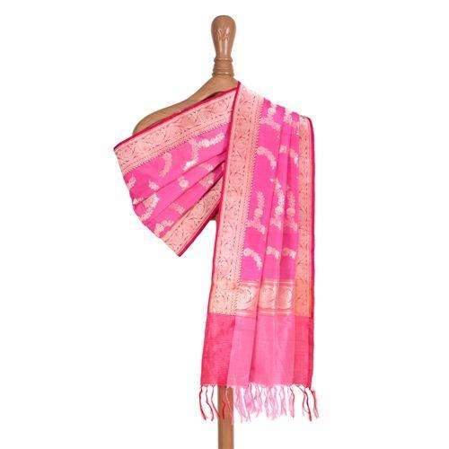 Pushp Pink Silk Dupatta