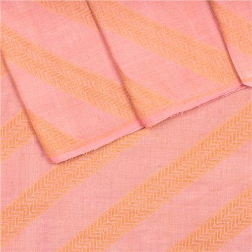 Aada Apricot Silk Georgette Fabric