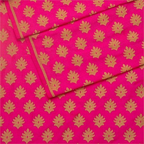 Tree Buti Pink Silk Fabric