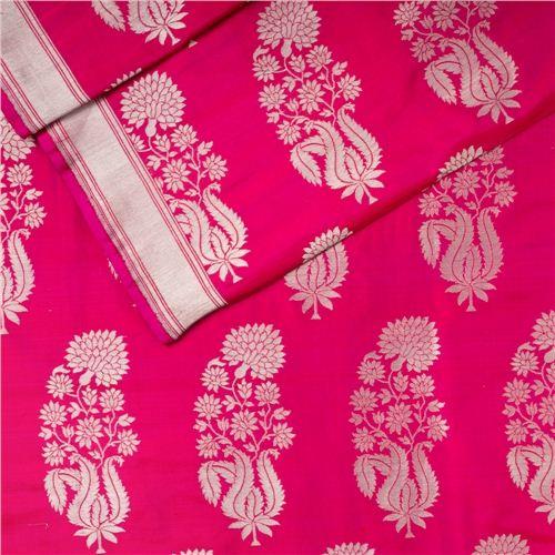 Guldavari Buta Pink Silk Fabric