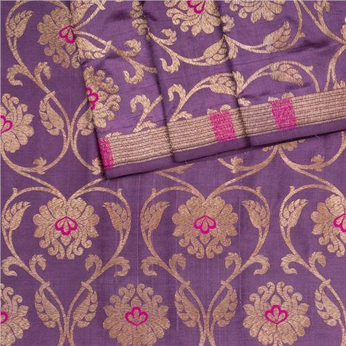 Minadar Violet Silk Fabric