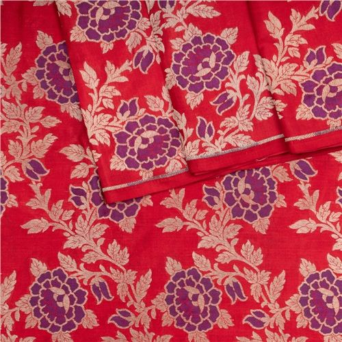 Rosette Jaal Red Silk Fabric