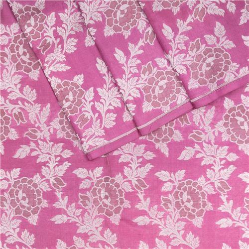 Rosette Jaal Persian Pink Silk Fabric