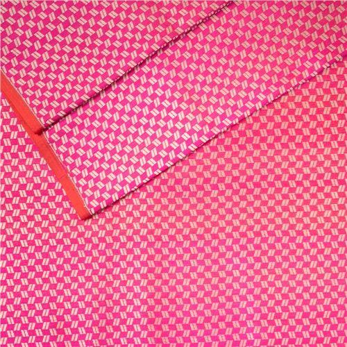 Shahteer Zari Brocade Pink Silk Fabric
