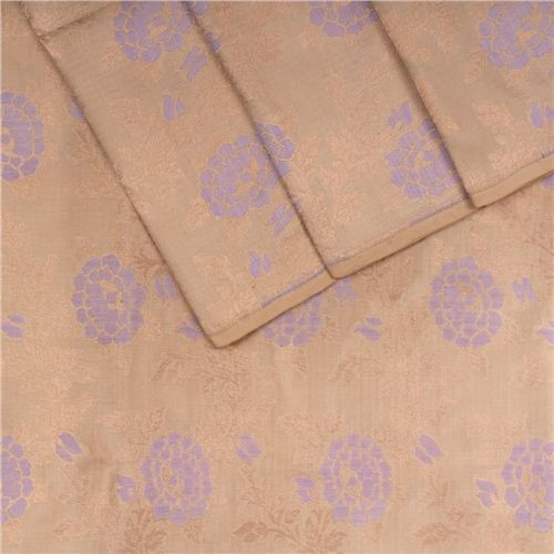 Rosette Jaal Biscuit Silk Fabric