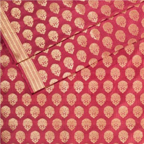 Guldavari Buti Light Maroon Silk Fabric