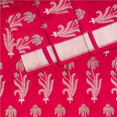 Guldavari Buta Berry Red Silk Fabric