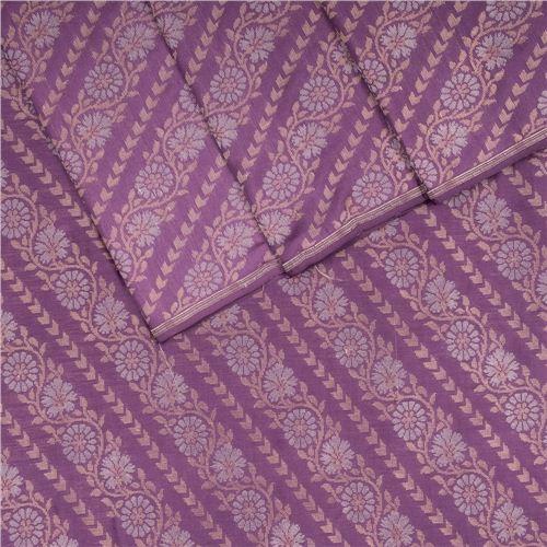 Aada Aubergine Silk Fabric