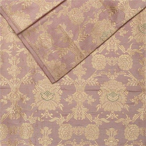 Khinkhwab Jungla Rose Pink Silk Fabric