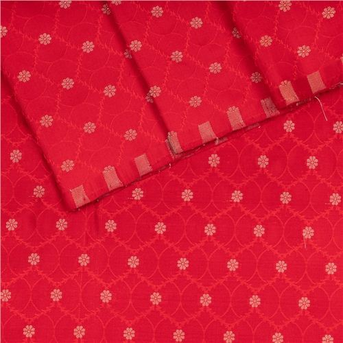 Chunri Jal Tanchoi Red Silk Fabric