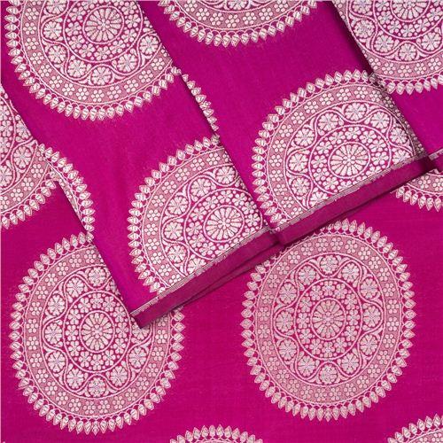 Ashrafi Magenta Silk Fabric