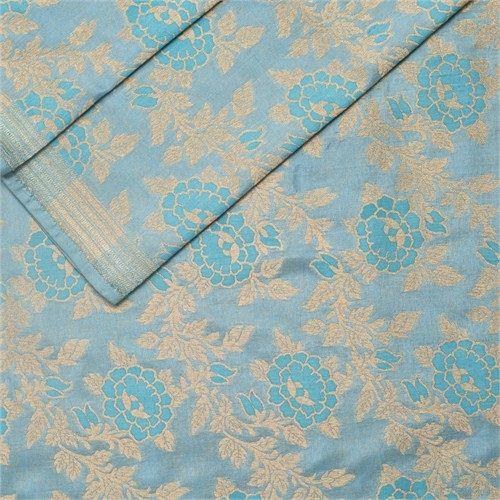 Rosette Jaal Powder Blue Silk Fabric