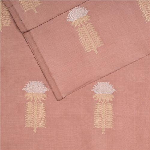 Kamal Buta Fig Silk Fabric