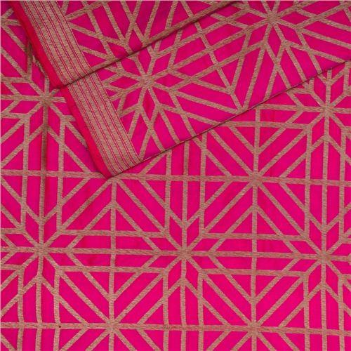 Chouka Pink Silk Fabric