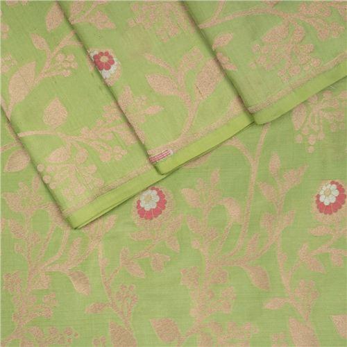 Tilfi Jaal Mint Silk Fabric