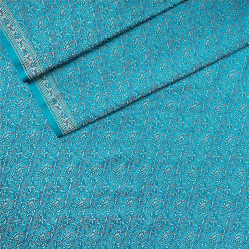 Jamevar Turquoise Tanchoi Silk Fabric