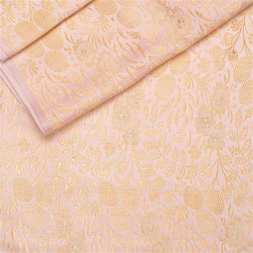 Kharbuja Jaal Baby Pink Satin Silk Fabric
