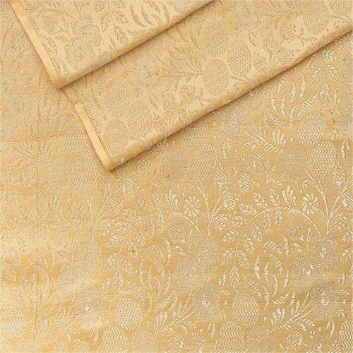 Kharbuja Jaal Vanilla Satin Silk Fabric