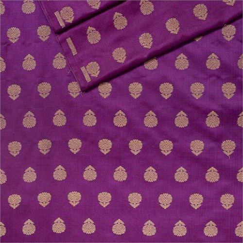 Chunri Buti Violet Satin Silk Fabric