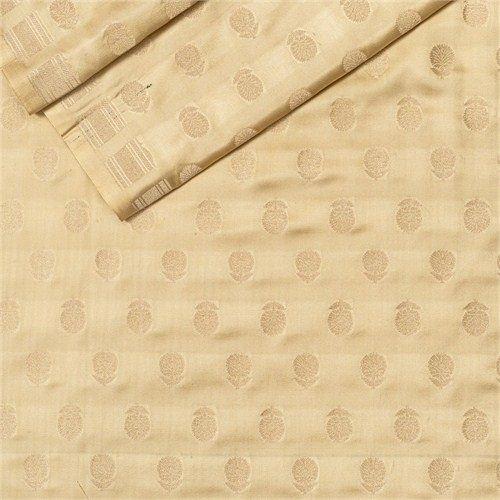 Chunri Buti Beige Satin Silk Fabric