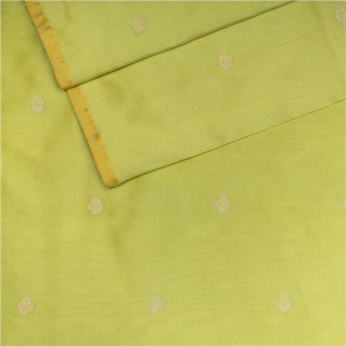 Chunri Buti Lime Green Silk Fabric