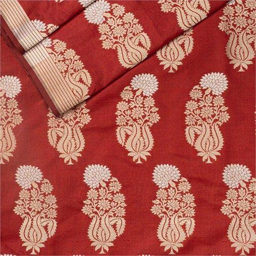 Guldavari Buta Maroon Silk Fabric