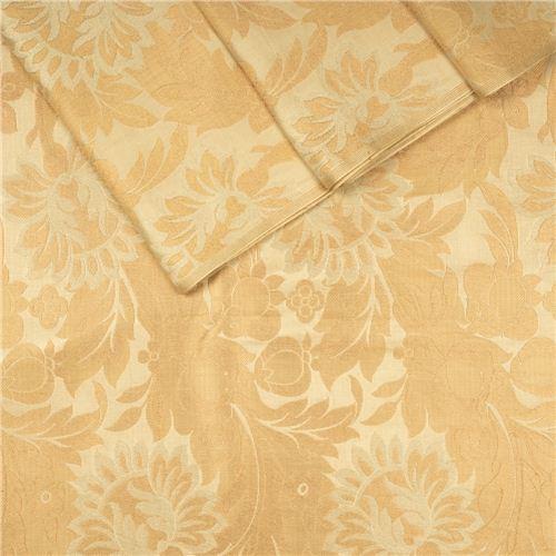 Gyasar Khinkhwab Beige Satin Silk Fabric