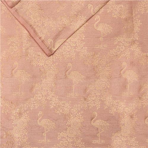 Khinkhwab Flamingo Apricot Silk Fabric