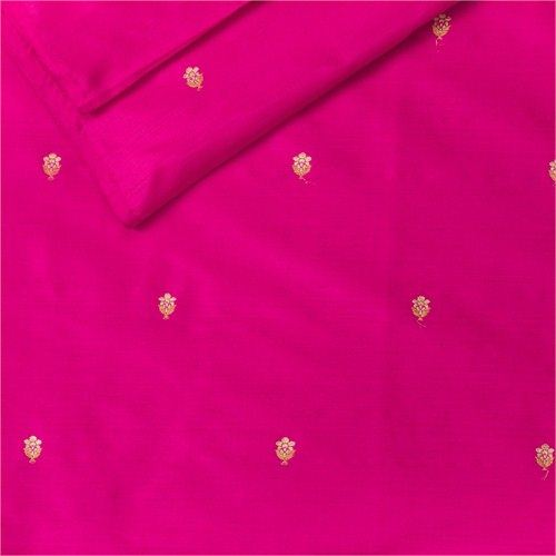 Chunri Buti Pink Silk Fabric