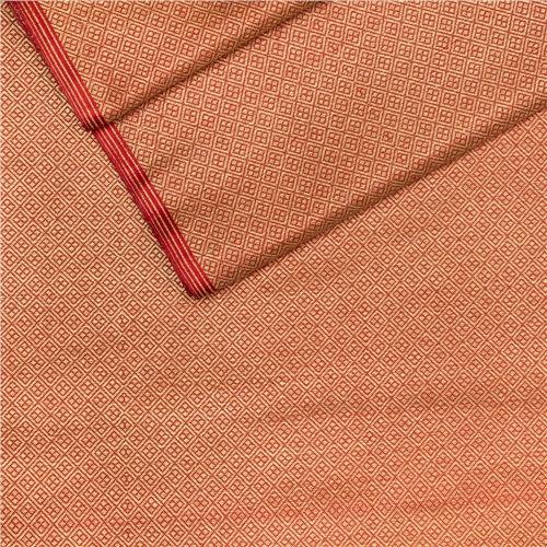 Chaudhani Red Zari Brocade Silk Fabric