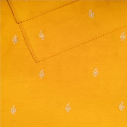 Shankhi Buti Yellow Silk Fabric