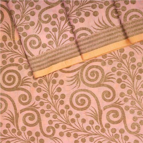 Chana Patti Jaal Peach Silk Fabric