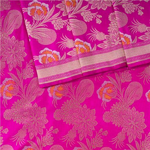 Khinkhwab Mina Jaal Pink Silk Fabric
