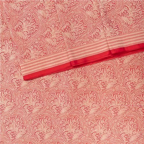Gyasar Brocade Red Silk Fabric